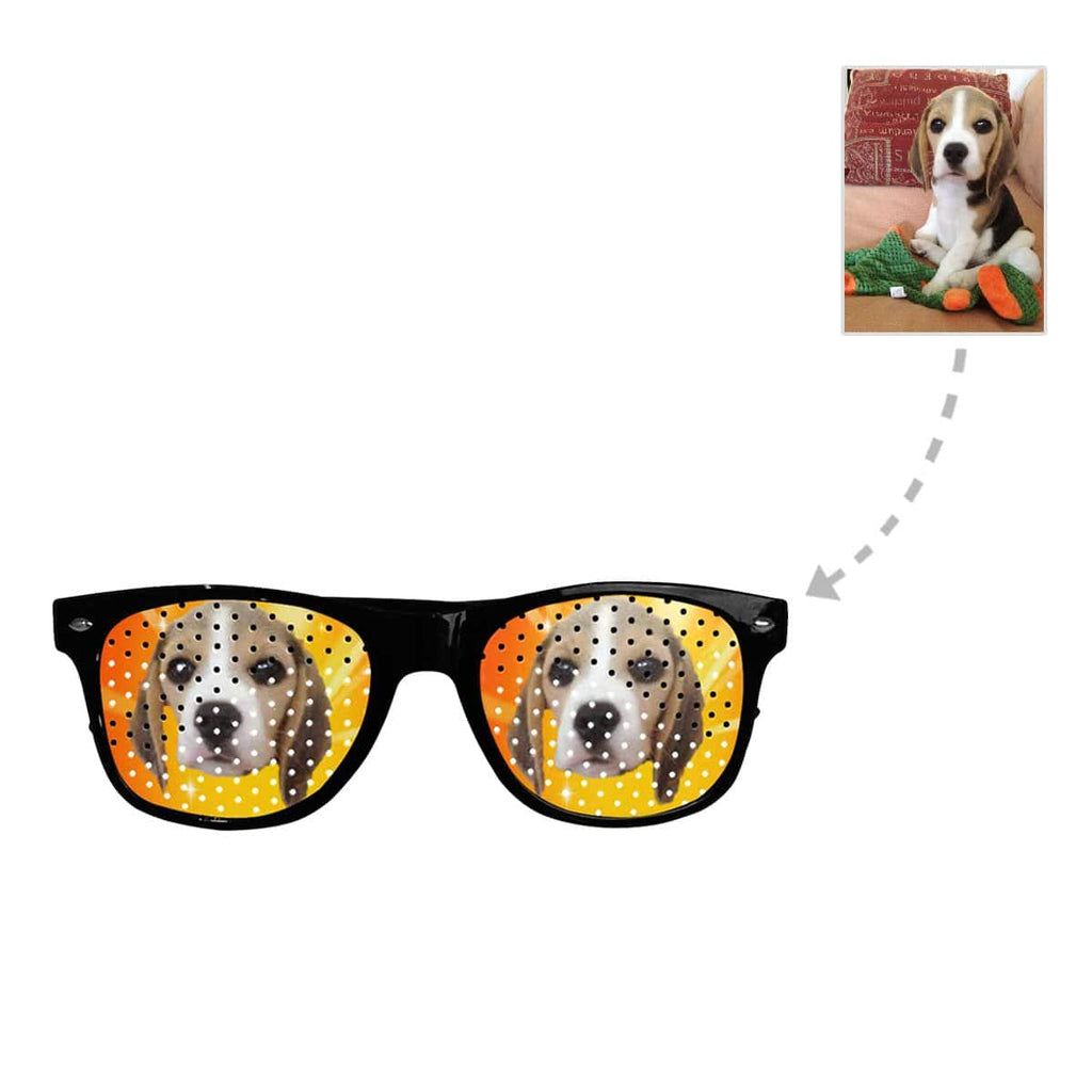 Custom Dog Face Unisex Perforated Lenses Sunglasses
