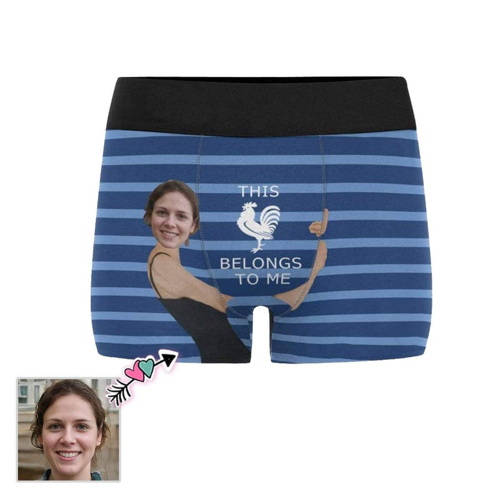 Custom Face Hug Belongs Men's Boxer Briefs
