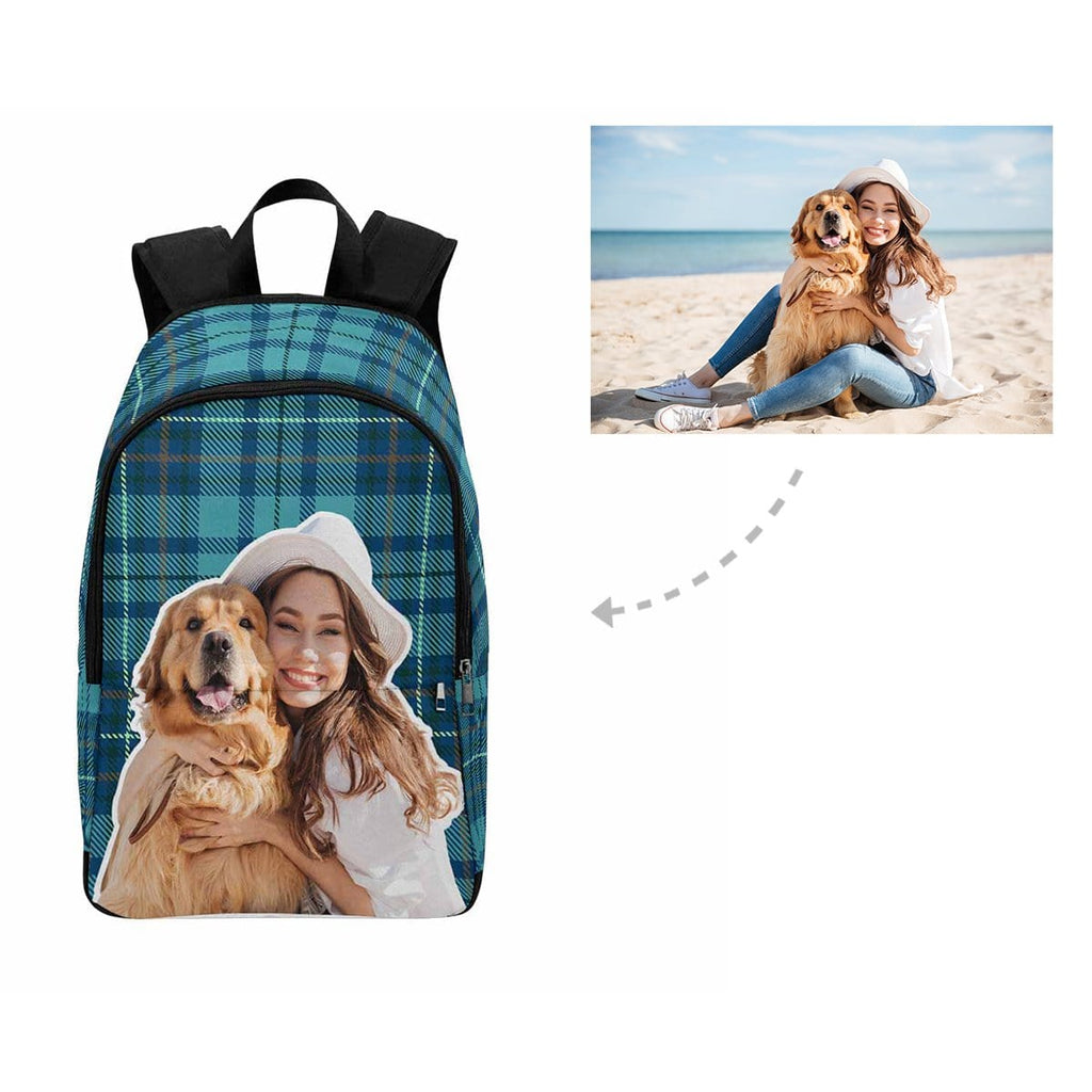 Custom Pet Lover Scottish Tartan Backpack