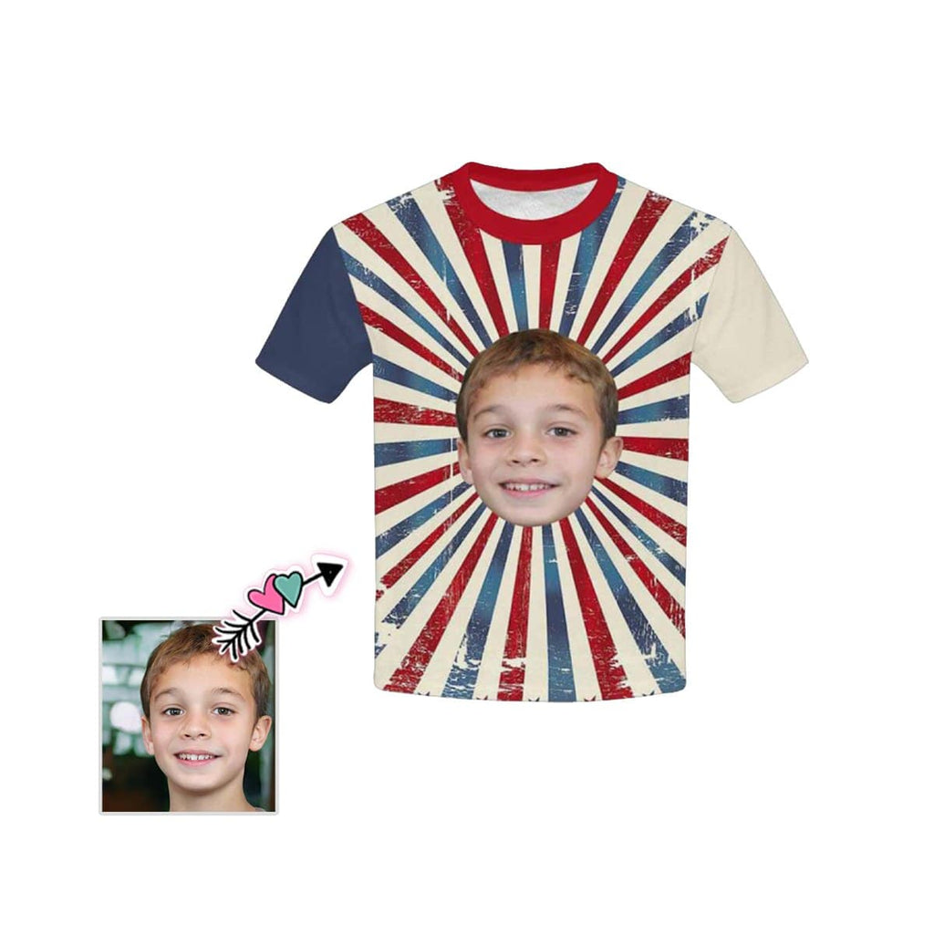 Custom Face Line Kid's All Over Print T-shirt