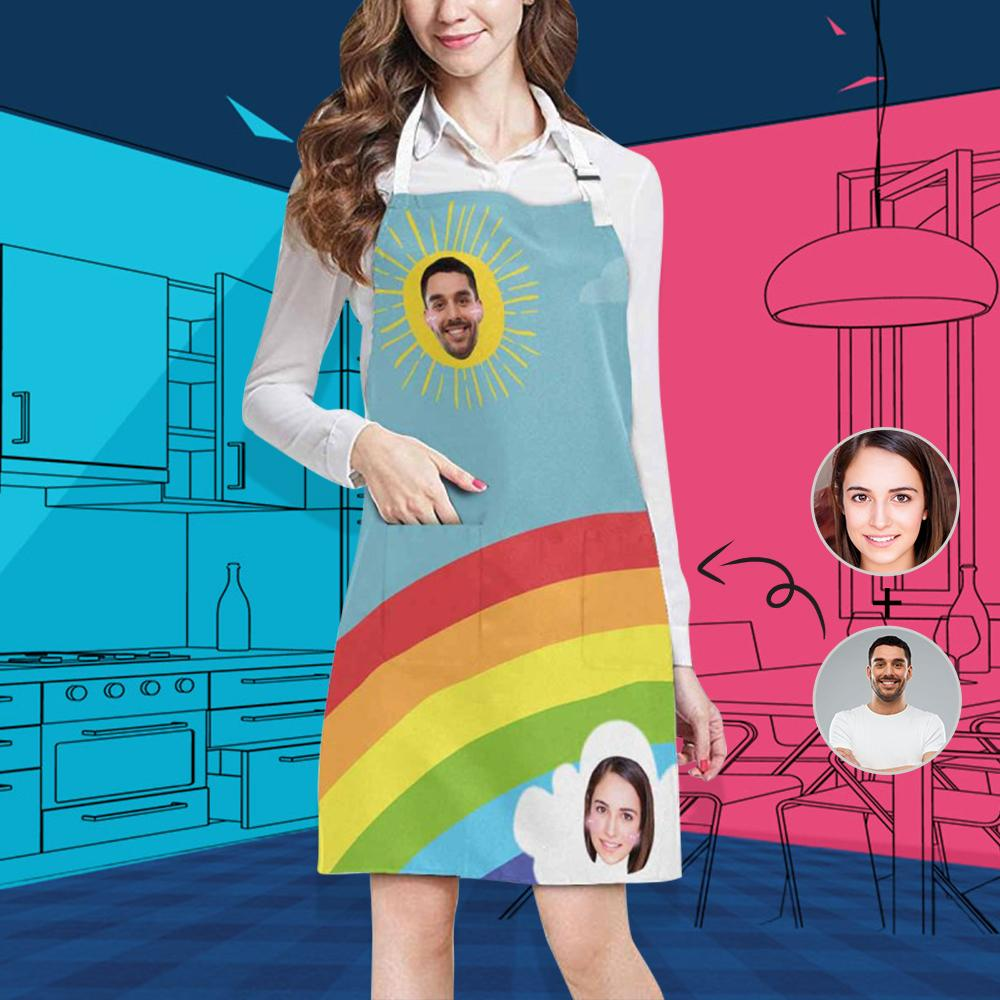 Custom Face Bifrost All Over Print Adjustable Apron