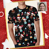 Custom Face Christmas Men's All Over Print T-shirt
