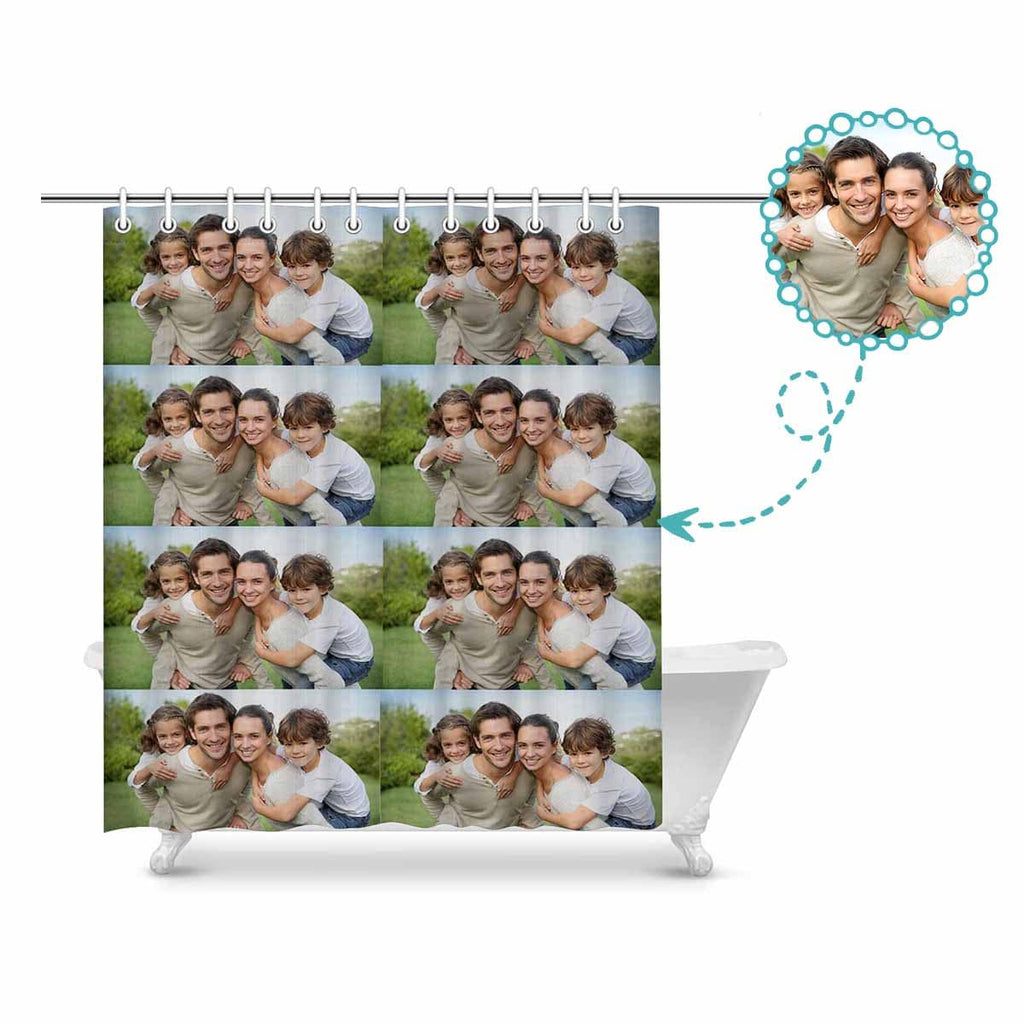 "Custom Photo Shower Curtain 72""x84"""