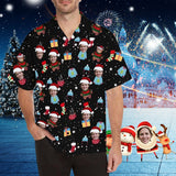 Custom Face Christmas Men's All Over Print Hawaiian Shirt