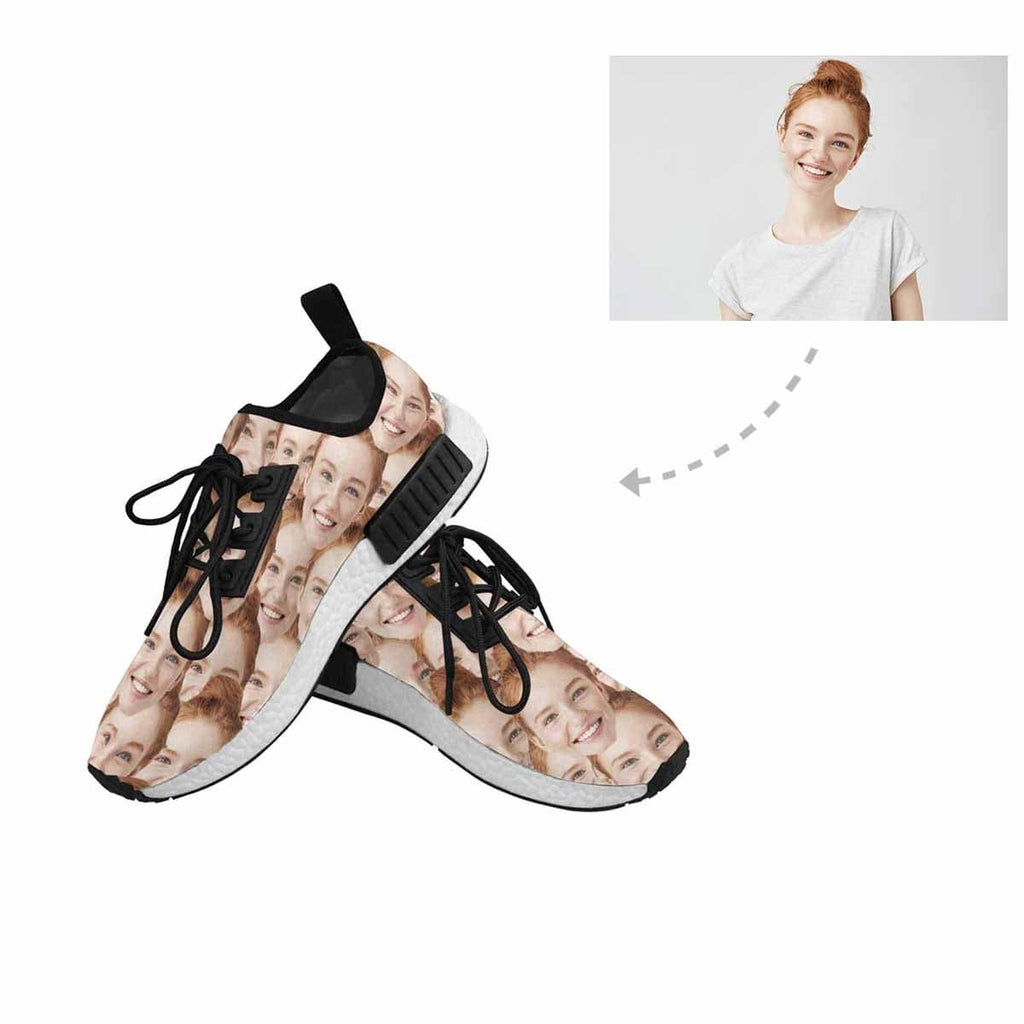 Custom Face Seamless Photo Draco Running Men's Sas Shoes