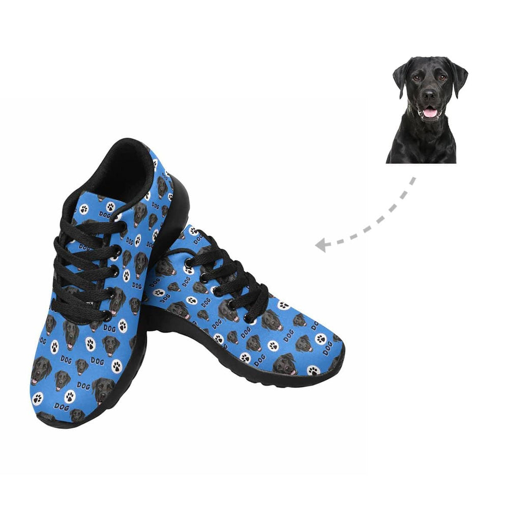 Custom Dog Face Paw Women's Sneaker