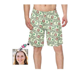 Custom Face Money Men's Swim Trunk