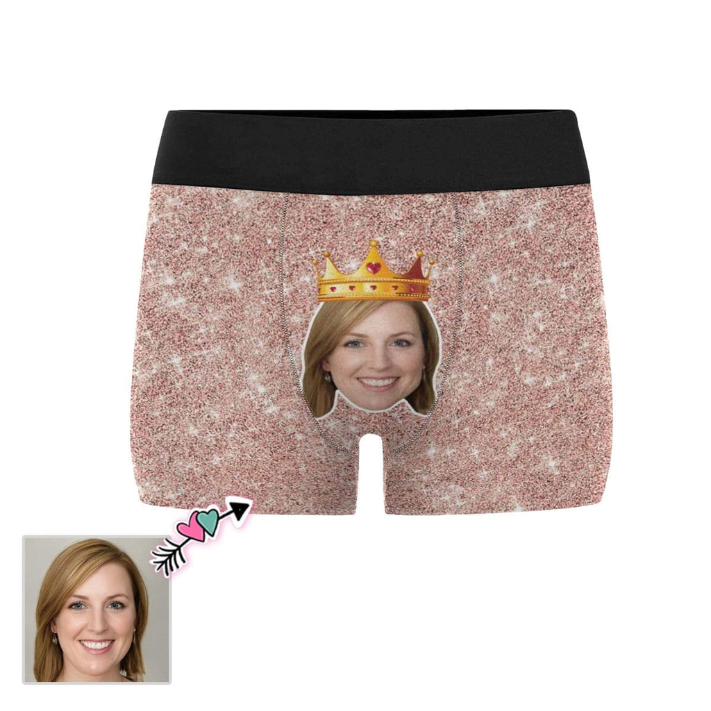 Custom Girlfriend Face Crown Men's All-Over Print Boxer Briefs