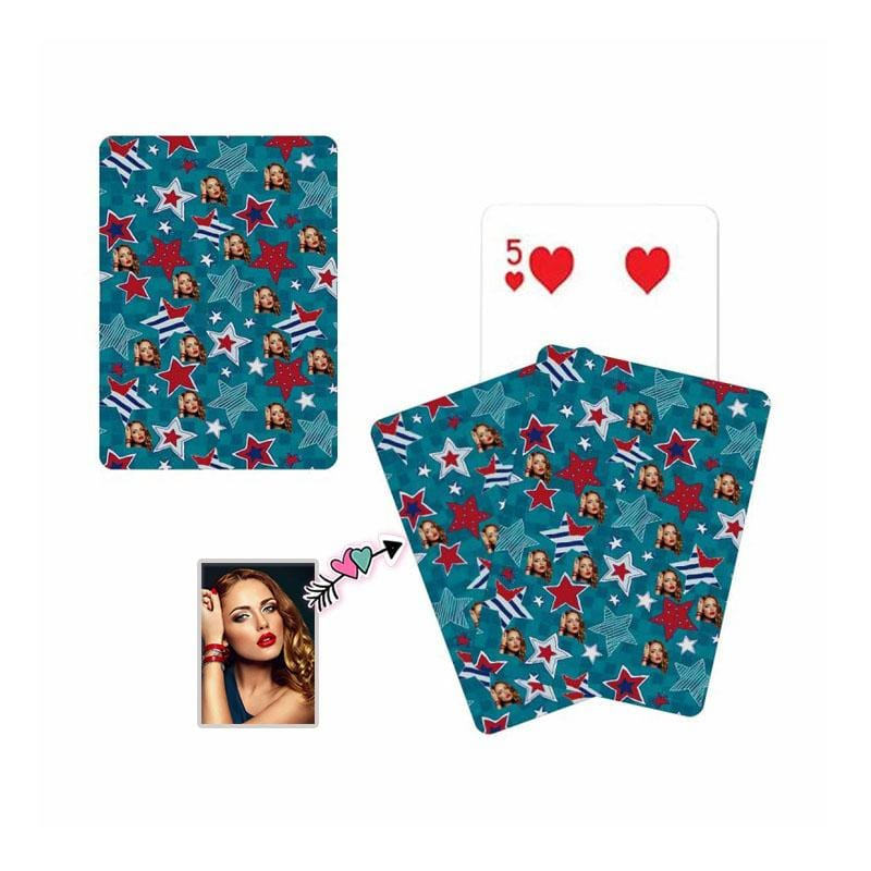 Custom Face Stars Playing Cards