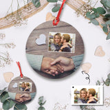 Custom Photo Forever Circle Ornament