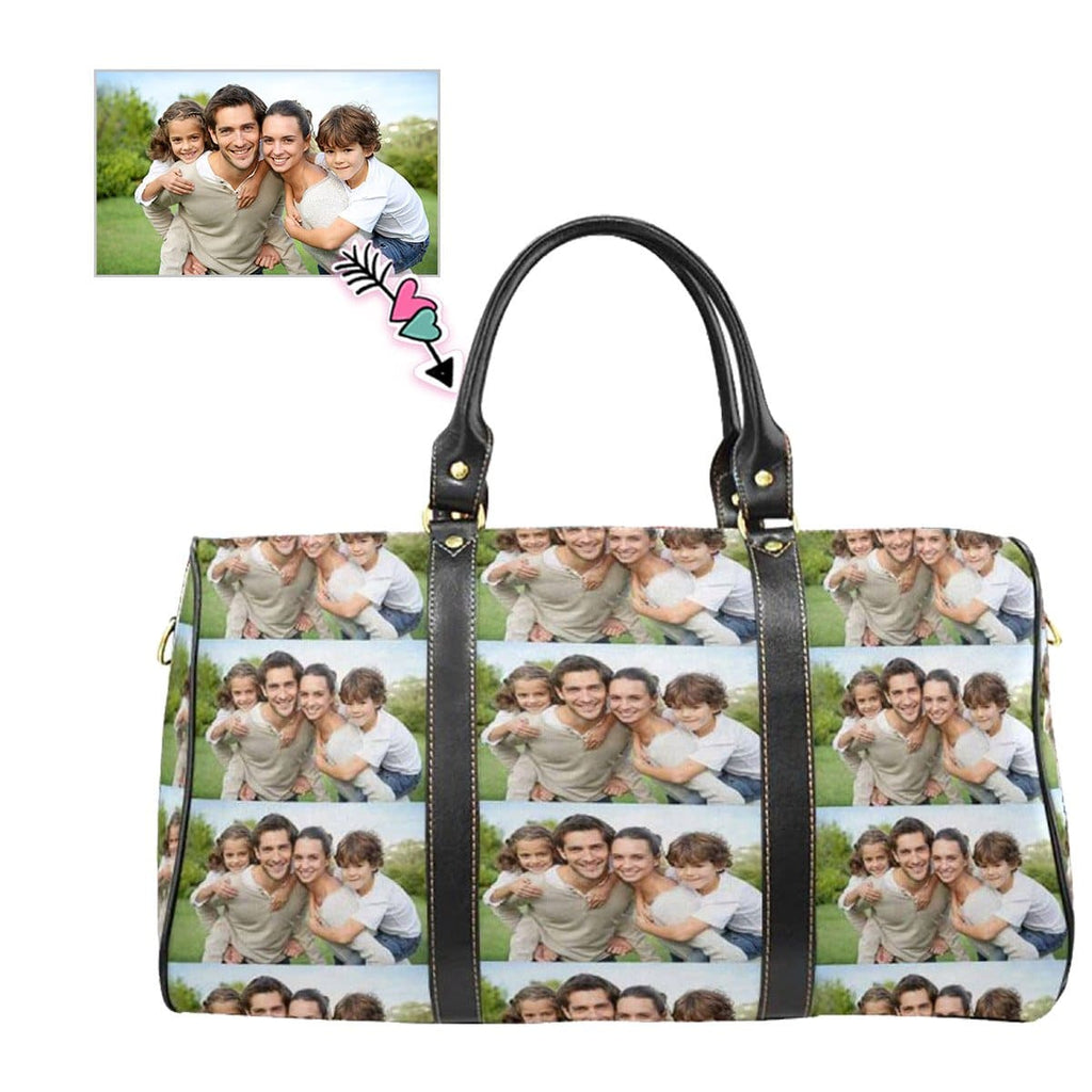 Custom Photo Stitching Family Travel Bag