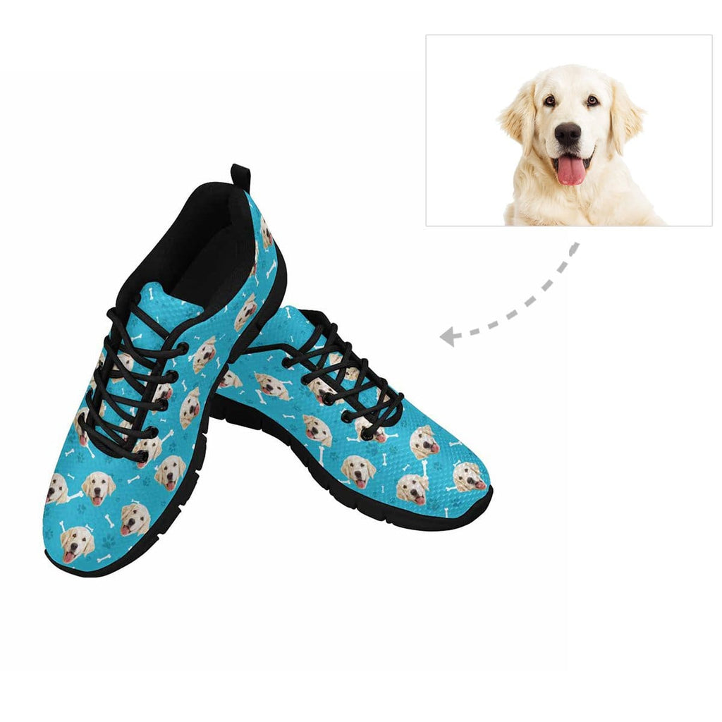 Custom Dog Paw and Bone Men's Running Shoes