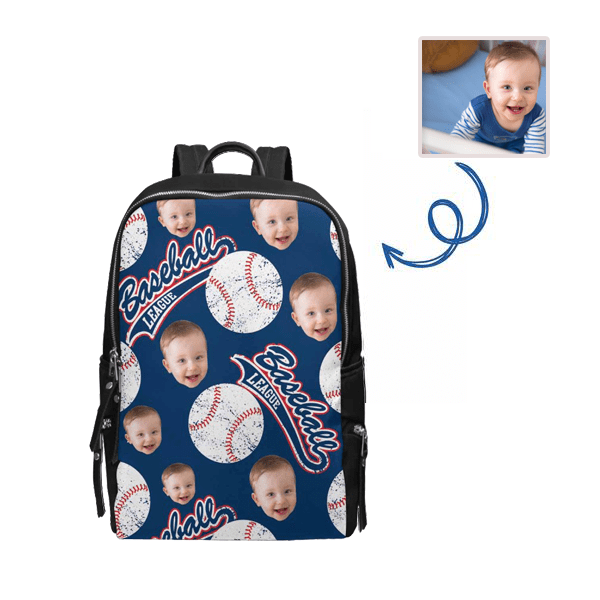 Custom Face Baseball School Bag