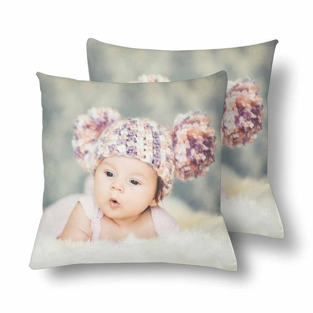 Custom Baby Photo Throw Pillow Cover