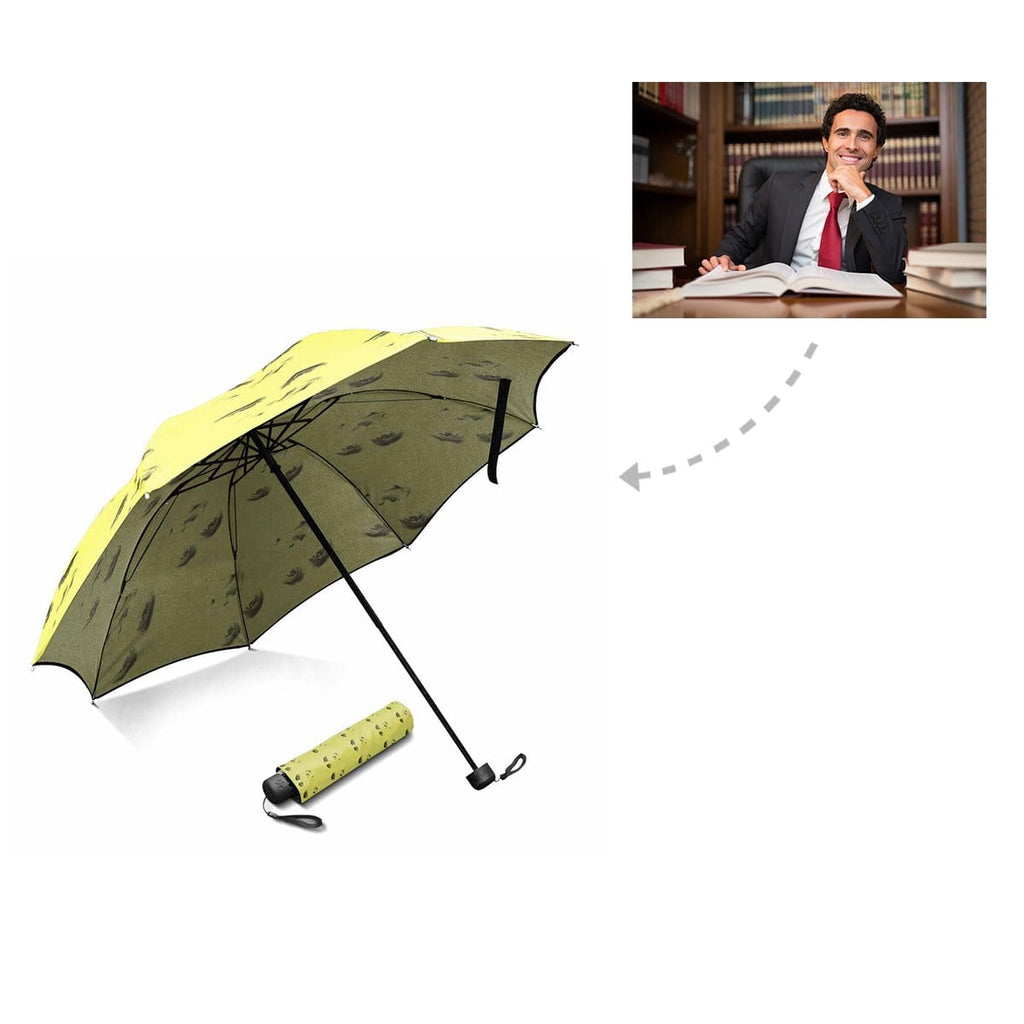 Custom Man Face Foldable Umbrella