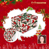 Custom Face Red&Green Argyle Gift Wrapping Paper