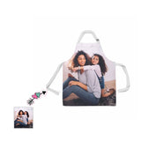 Custom Photo Mom&Kid Happiness All Over Print Adjustable Apron