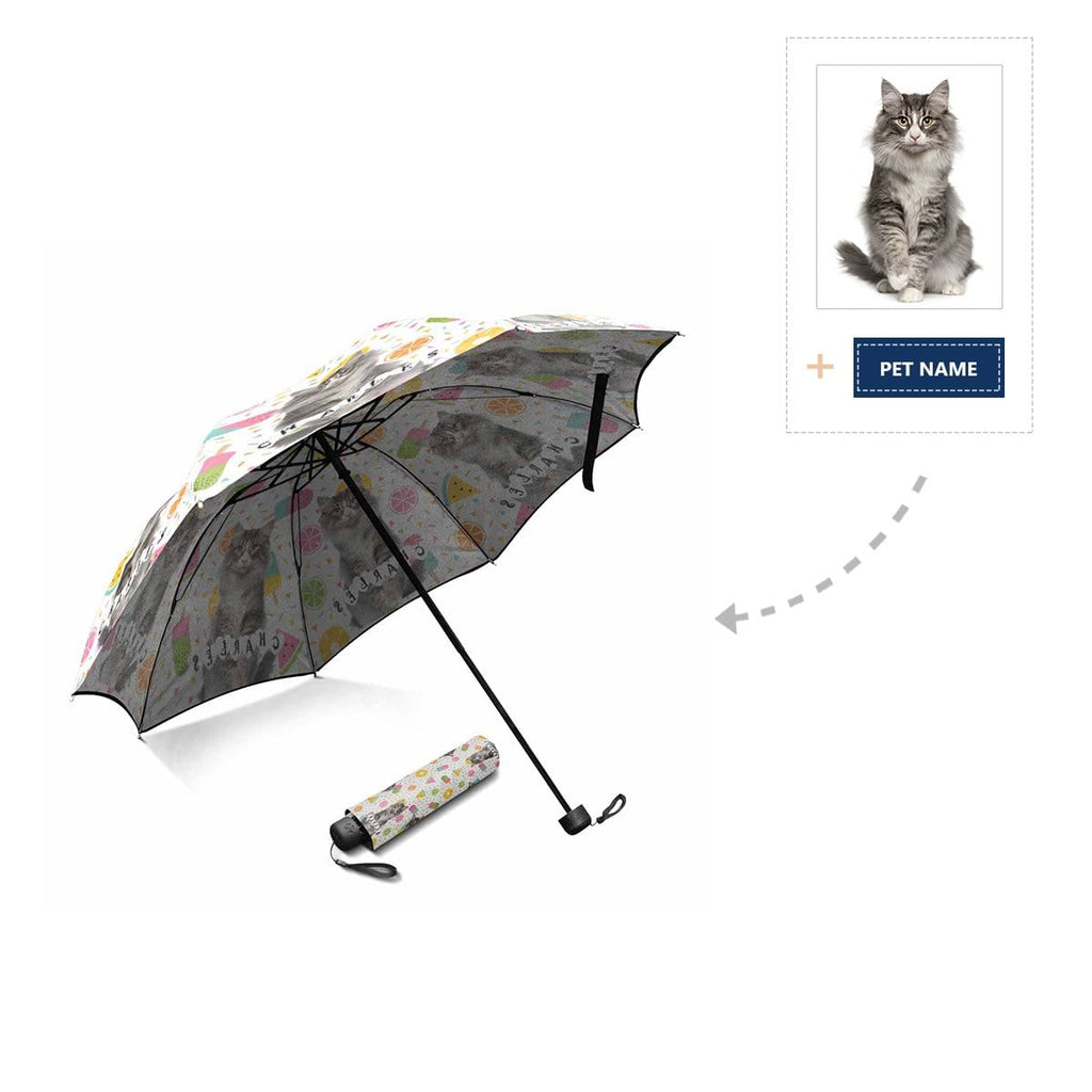 Custom Cat Name Foldable Umbrella
