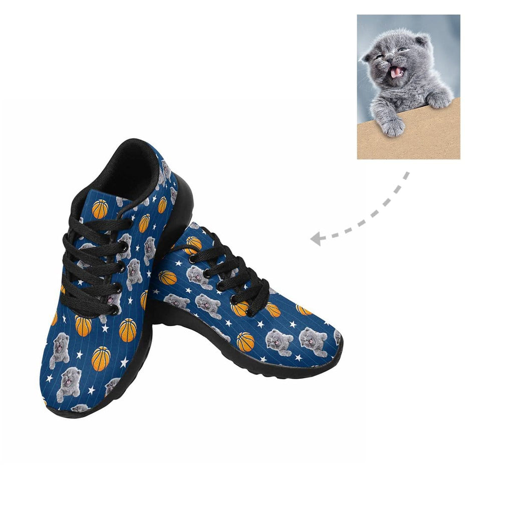 Custom Cat Basketball Stripe Sneakers