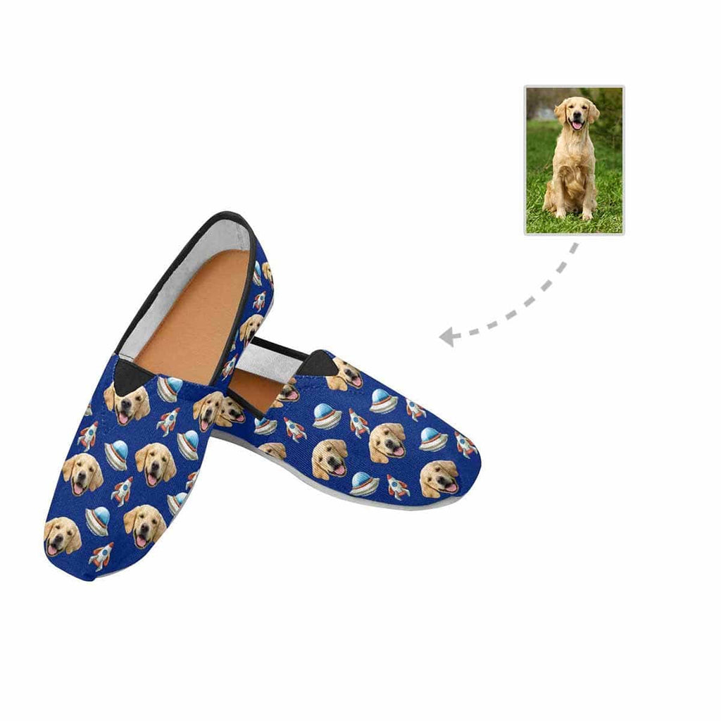 Custom Dog Planet Women's Casual Shoes