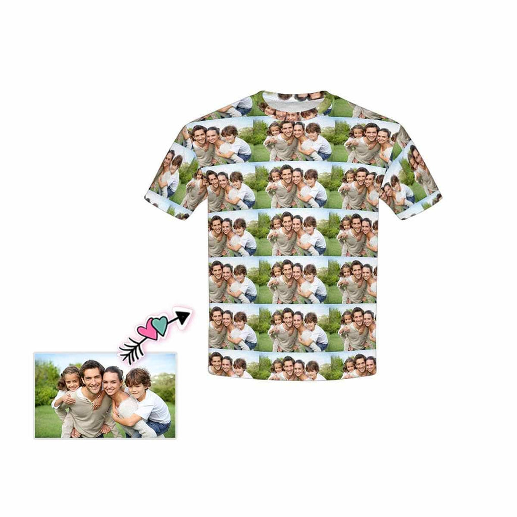 Custom Family Photo Seamless Kid's All Over Print T-shirt