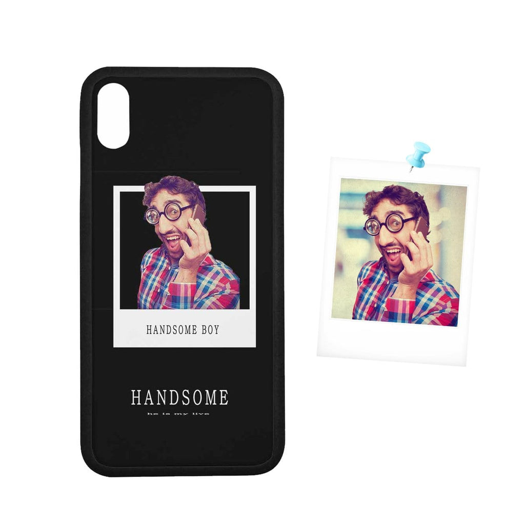 "Custom Face Photo Handsome Boy Rubber Case for Iphone XS Max (6.5"")"