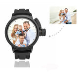 Men's Custom Family Photo Sport Watch, Plastic Strap