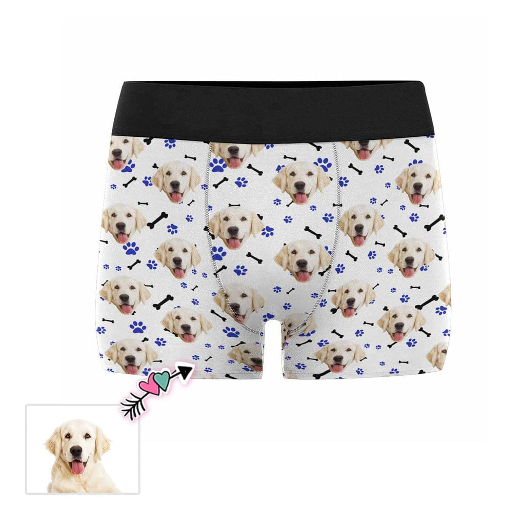 Custom Dog Paw and Bone Men's Boxer Briefs