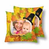 Custom Photo Thanksgiving Throw Pillow Cover