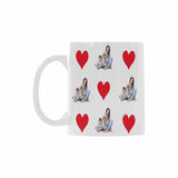 Custom Family&Dog Photo Classical White Mug