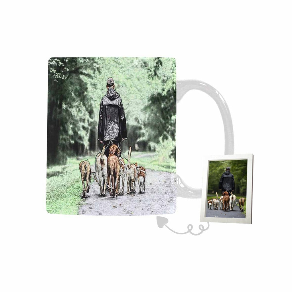 Custom Walking Dogs Classical White Mug(11 OZ)