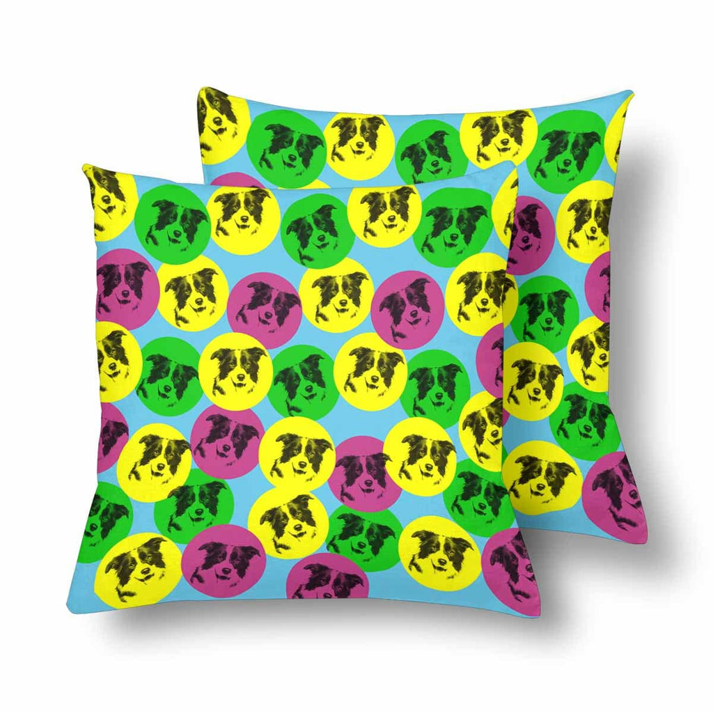 Custom Colorful Dog Throw Pillow Cover