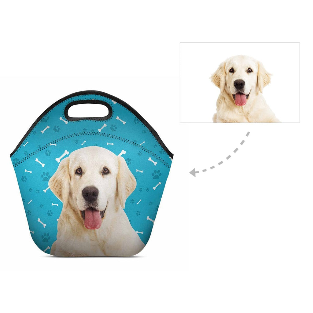 Custom Dog Paw and Bone Neoprene Lunch Bag