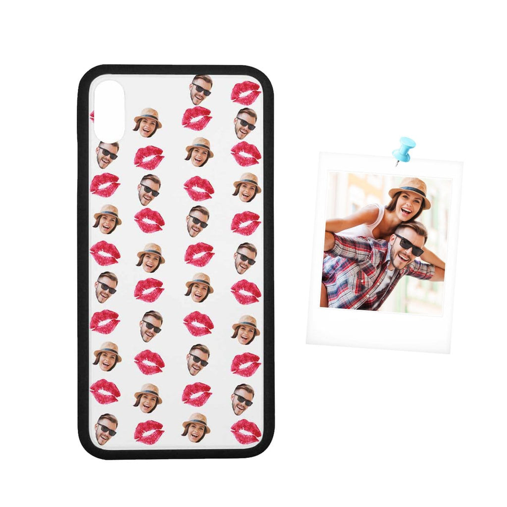 Custom Couple Face Red Lip Rubber Case for Iphone 8/8 Plus/XR/XS Max