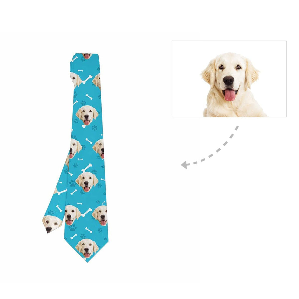 Custom Dog Paw and Bone Classic Necktie