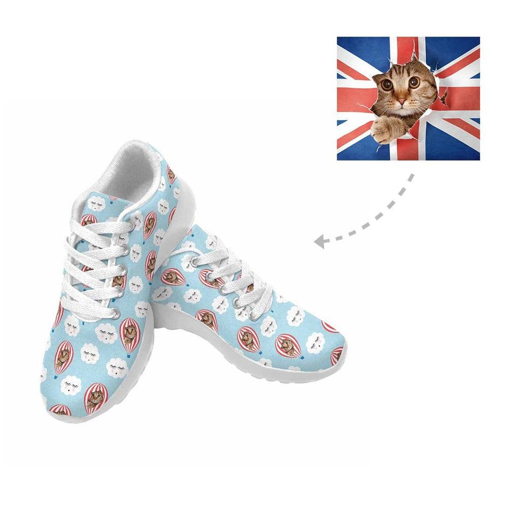Custom Cat Hot Air Balloon Cloud Sneaker
