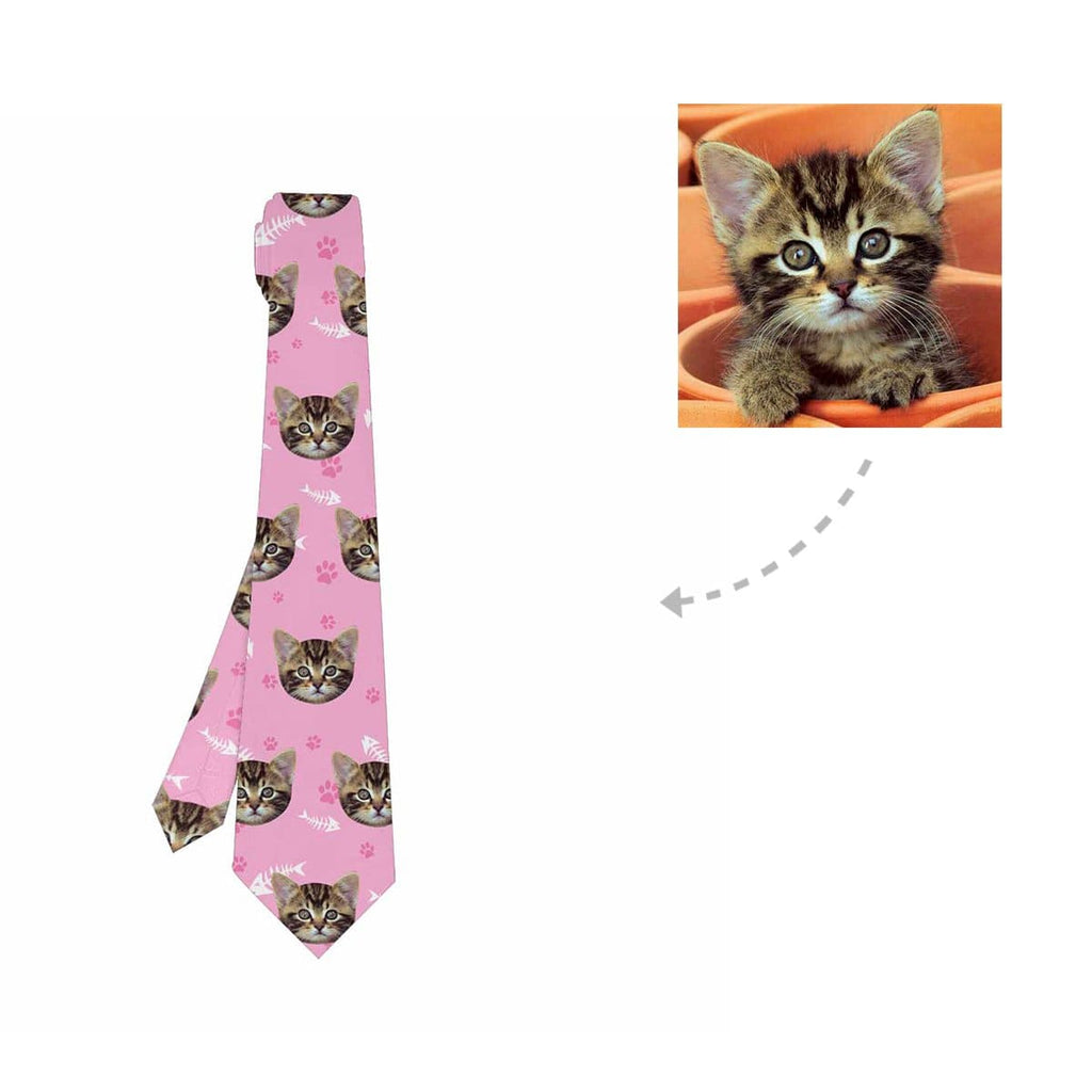 Custom Cat Paw and Fish Bones Classic Necktie