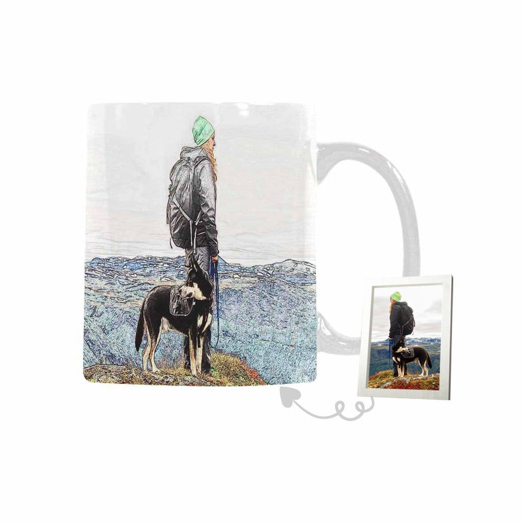 Custom Travel With Your Dog Classical White Mug(11 OZ)