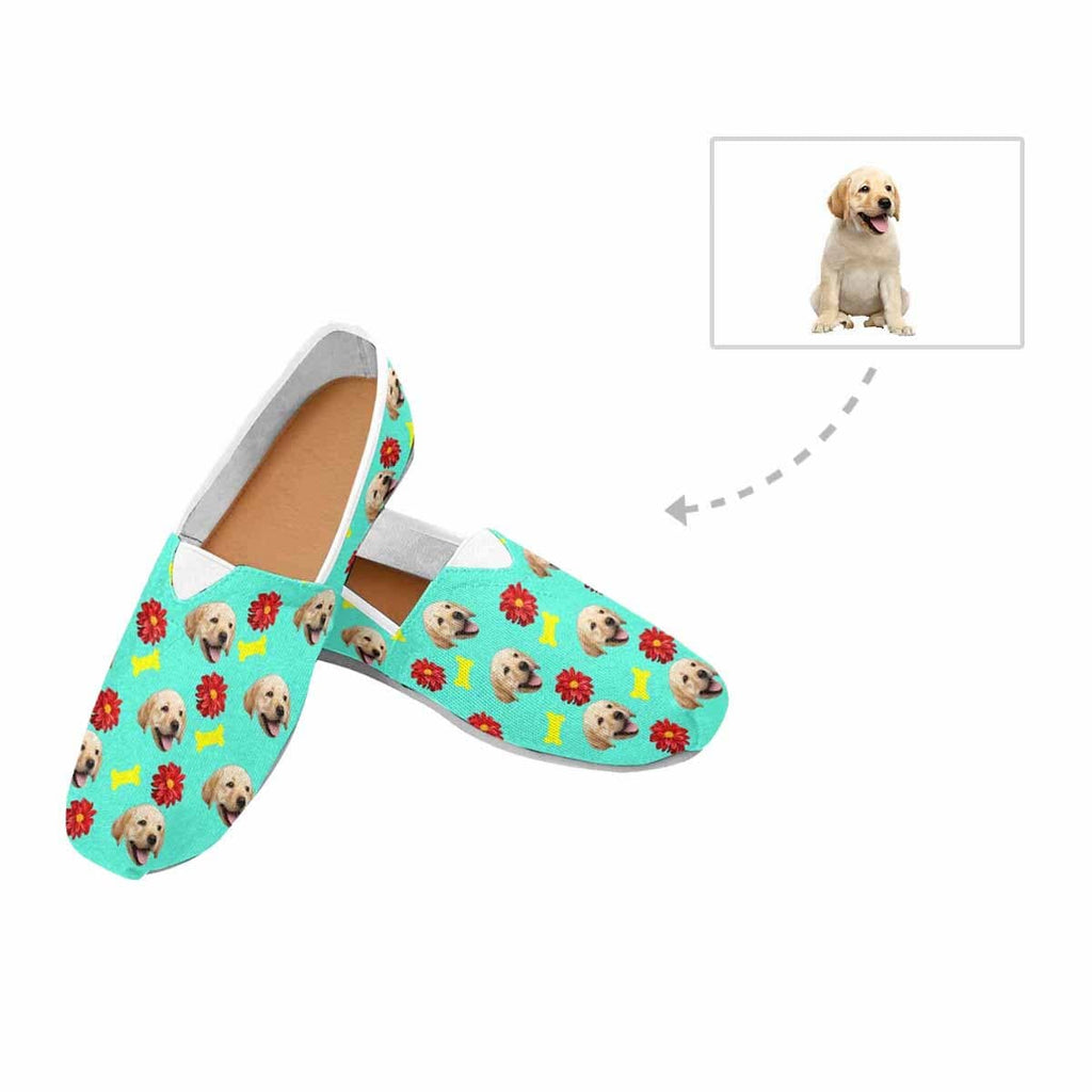 Custom Dog Flower Bone Women's Casual Shoes