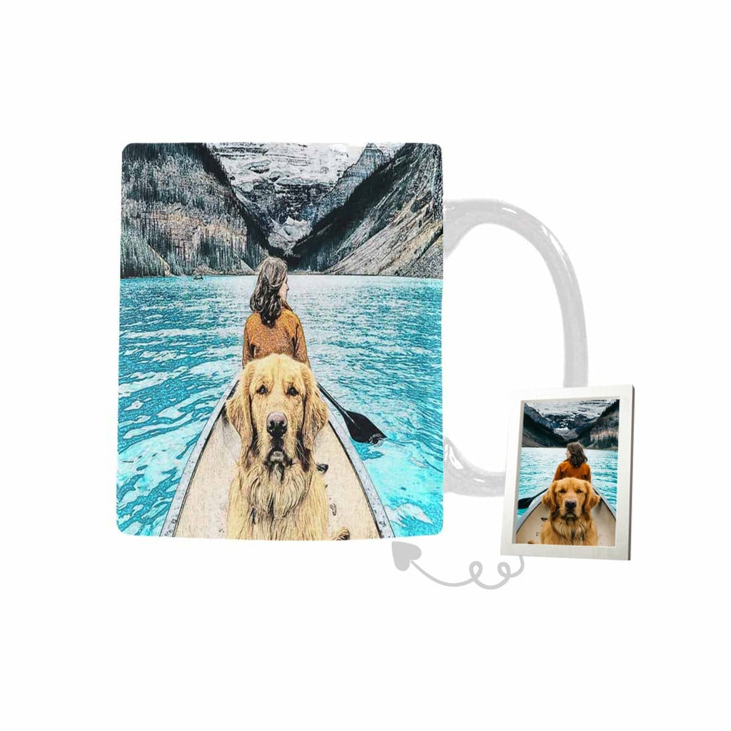 Custom Boating with Your Dog Classical White Mug