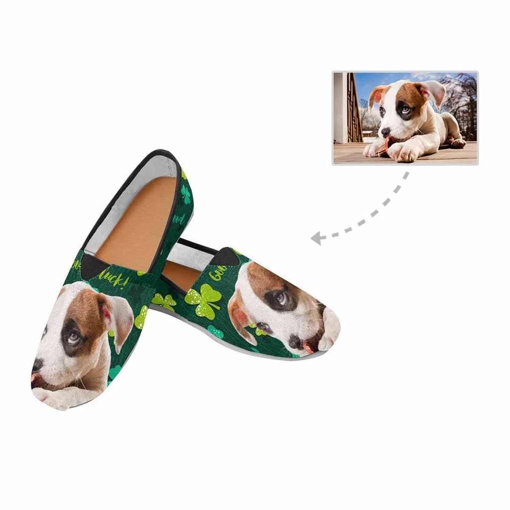 Custom Dog St. Patrick Shamrock Women's Casual Shoes