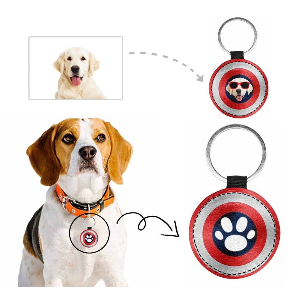 Custom Face Shield Round Pet ID Tag