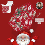 Custom Face Christmas Lights Gift Wrapping Paper