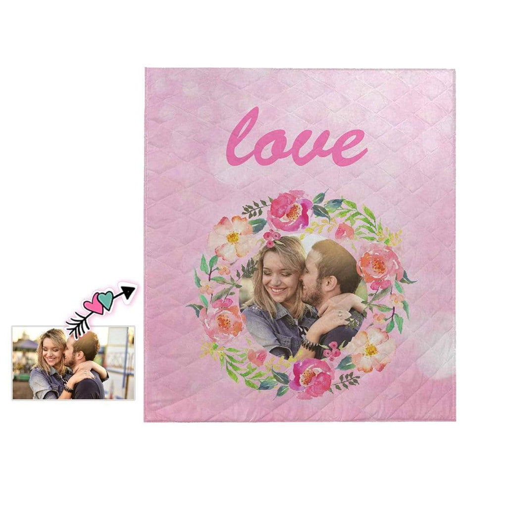 Custom Photo Couple Love Quilt