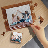 Custom Photo Family Together Rectangle Jigsaw Puzzle