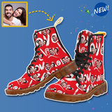 Custom Face Love Canvas Women's Boots