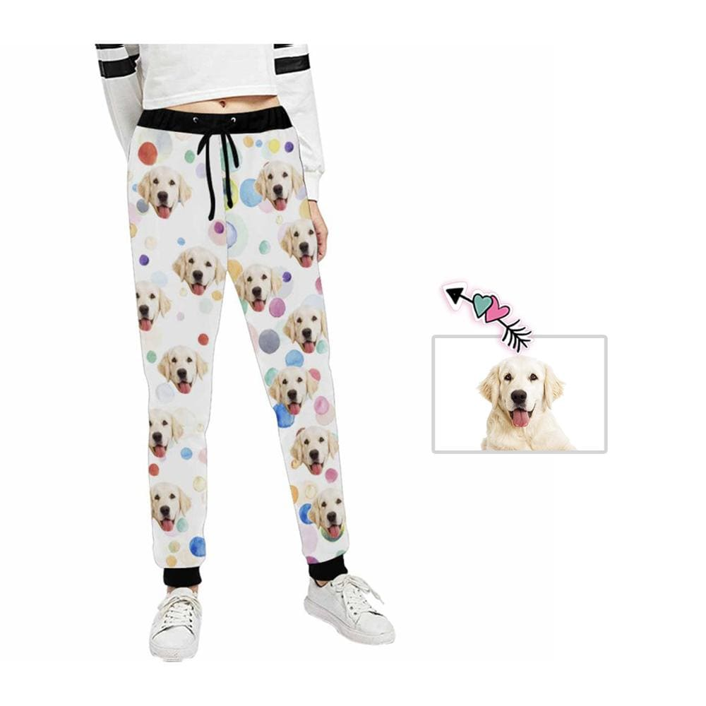 Custom Face Color Spots Women's Casual Sweatpants