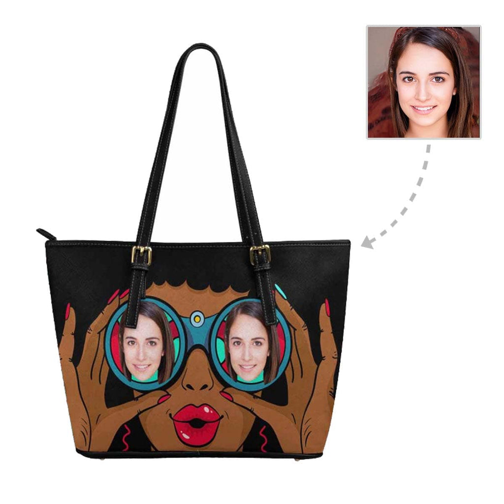 Custom Face Glasses Tote Bag