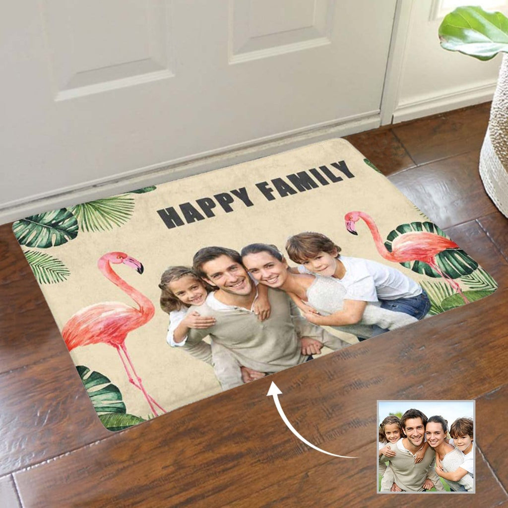 Custom Photo Happy Family Doormat