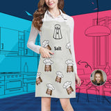 Custom Face Salt All Over Print Adjustable Apron